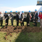 Gov. Steve Beshear on Wednesday joined local officials to break ground on Catalent Pharma Solutions' expansion in Winchester.