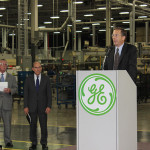 GE Appliances Vice President of Technology Kevin Nolan speaks at the event.