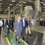 UK Representatives tour the GE GeoSpring Hybrid Water Heater assembly line at Appliance Park in Louisville.