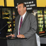 Ed Mullins, CEO of Prairie Farms, speaks at the Udderly Kentucky event at Walmart.