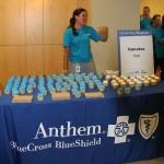 Anthem employees celebrate the company's 75th anniversary in Kentucky.