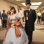 "The Leadership Louisville Luncheon Exhibit Hall was themed ""There's No Place Like Home,"" and featured an assortment of Kentucky characters, including Abraham and Mary Todd Lincoln."