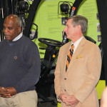 Wil James, president of Toyota Motor Manufacturing Kentucky, and MIchael McCall, president of Kentucky Community and Technical College System, are active in BEAM and spoke at Monday's press conference.