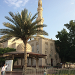 The delegates visited the Jumeirah Mosque in Dubai City.