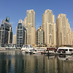 Kentucky delegates get a glimpse of the Jumeirah skyline from a water cruise during a trade mission to Dubai.