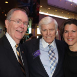 Bob Gable, former chair of the Kentucky Arts Council, former Gov. John Y. Brown Jr. and his daughter Sandy Steier attended the 30th anniversary celebration of the Kentucky Center for the Arts.
