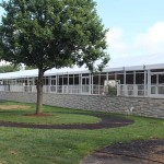 The Saddling Paddock Chalet will seat 547 people and run the entire length of the Saddling Paddock.