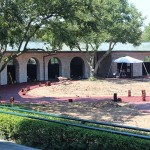 The paddock area will have an enlarged horse path in front of the stone saddling stalls .