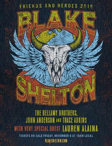 Blake Shelton to perform at KFC Yum! Center March 1, 2019 – Lane