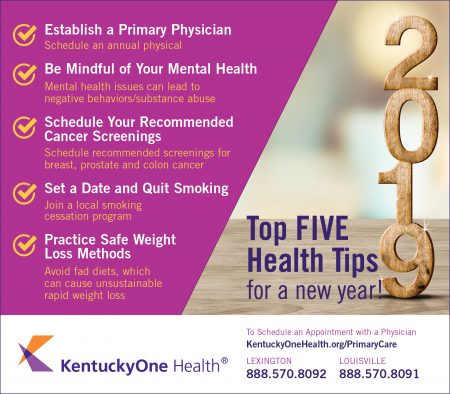 How To Help Improve Your Health In 2019 Lane Report Kentucky