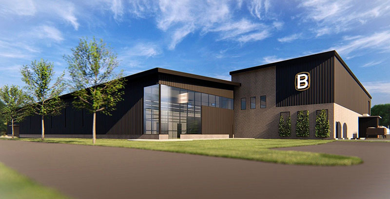 A rendering of Bardtown Bottling Co.'s new bottling facility.