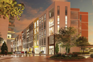 Ovation, a $1 billion mixed-use TIF project in Newport, will include retail and offices, as shown here in a rendering of the planned construction on Main Street.