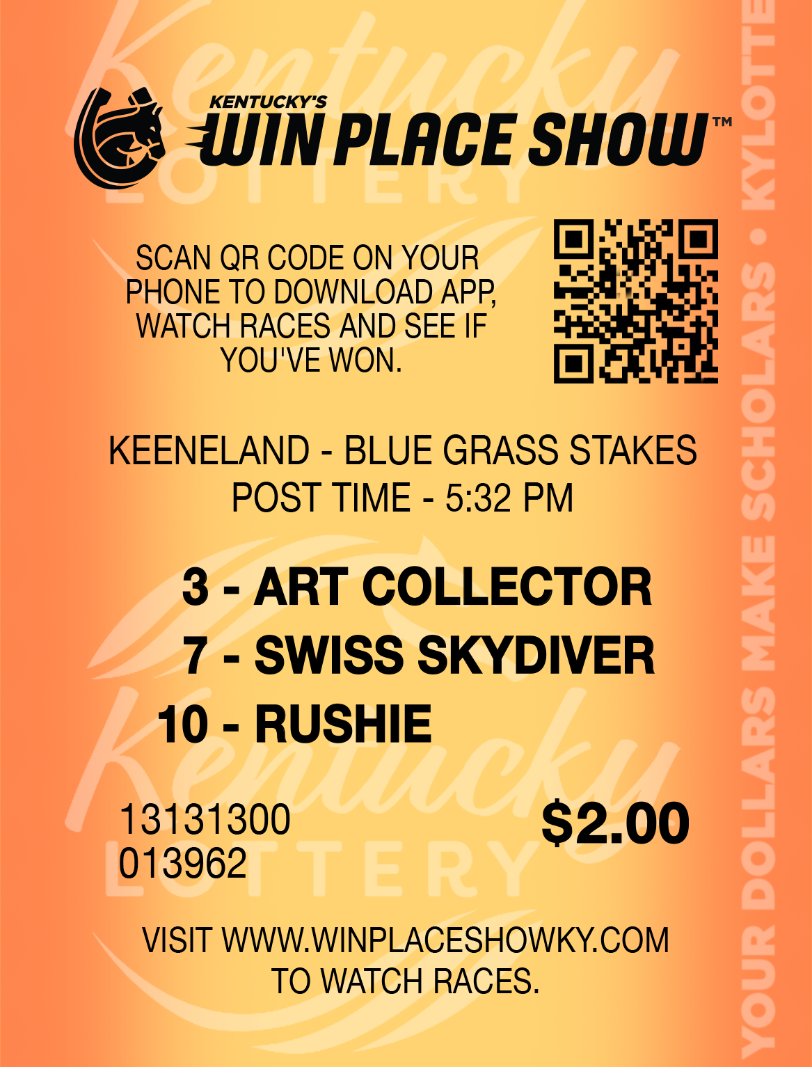 win place show