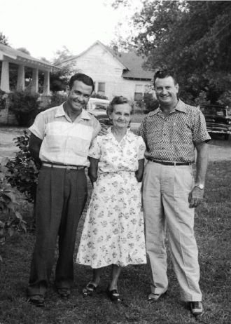 Grandma Russell with sons