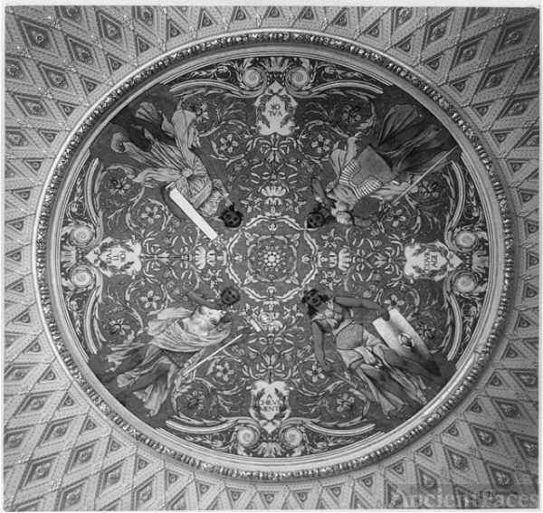 Ceiling mural in the Thomas Jefferson Building
