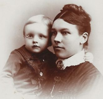 Mrs. T. H. Bjoin and Truman