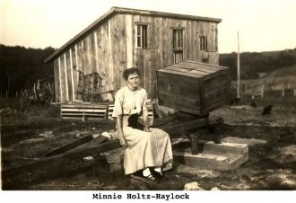 Minnie (Holtz) Haylock, Iowa 1910