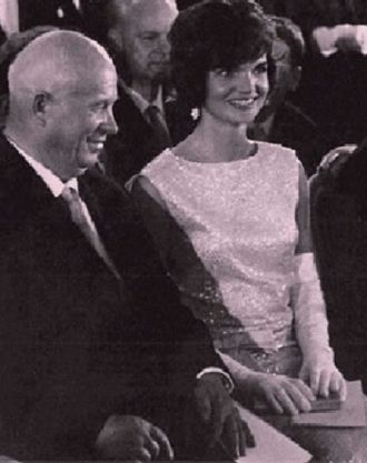 Jackie Kennedy and Khrushchev