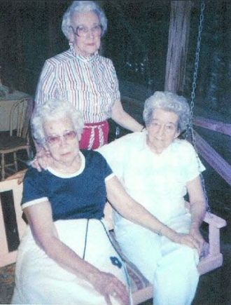 Clara, Vera, and Thelma Bloss.