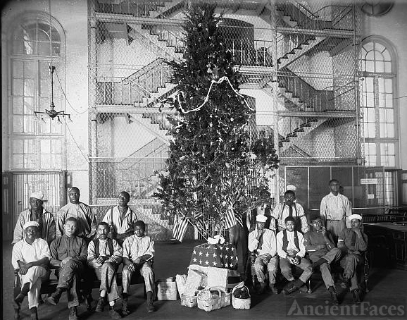 Jail Christmas tree, 1919