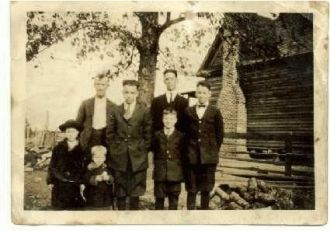 Walter Grisham some of his children
