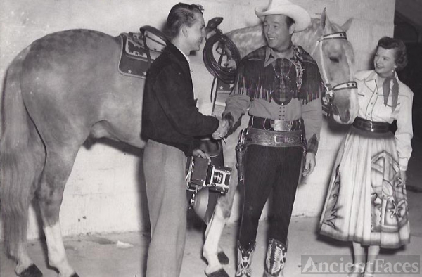 Bill Rayborn with Roy Rogers, Dale Evans