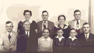 John & Emma (Stanley) Combs Family, 1948