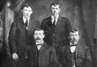 Henry, Luther, Richard & William Doss, 1902