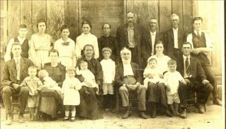 Robert F. Guttery Family, TN or AL,1920