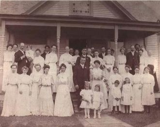 Group photo of Charles Worby /Lester Smith Wedding