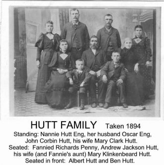Andrew & Mary Hutt Family, NE 1894