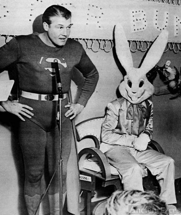 Easter bunny with Superman