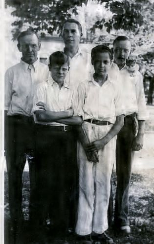 Charles H, Charles E, James, Andrew, & Harry Reed,1935