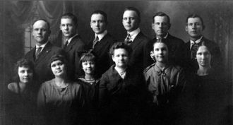 Mary (Kirscht) Reuter Family, Minnesota 1922