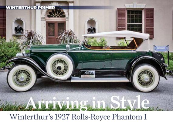 arriving in style winterthur s 1927 rolls royce phantom i afanews com