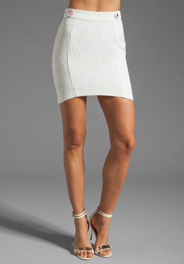 Style Stalker Time Travel Skirt in White