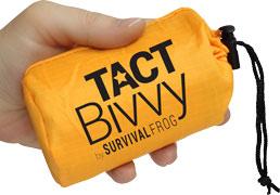small tact bivvy bag in a hand