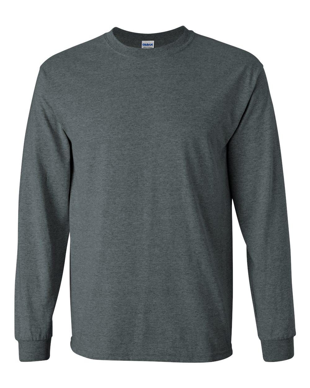 Gildan Tee Shirt T 6.1 Oz Ultra Cotton Men's Long Sleeve Basic ...