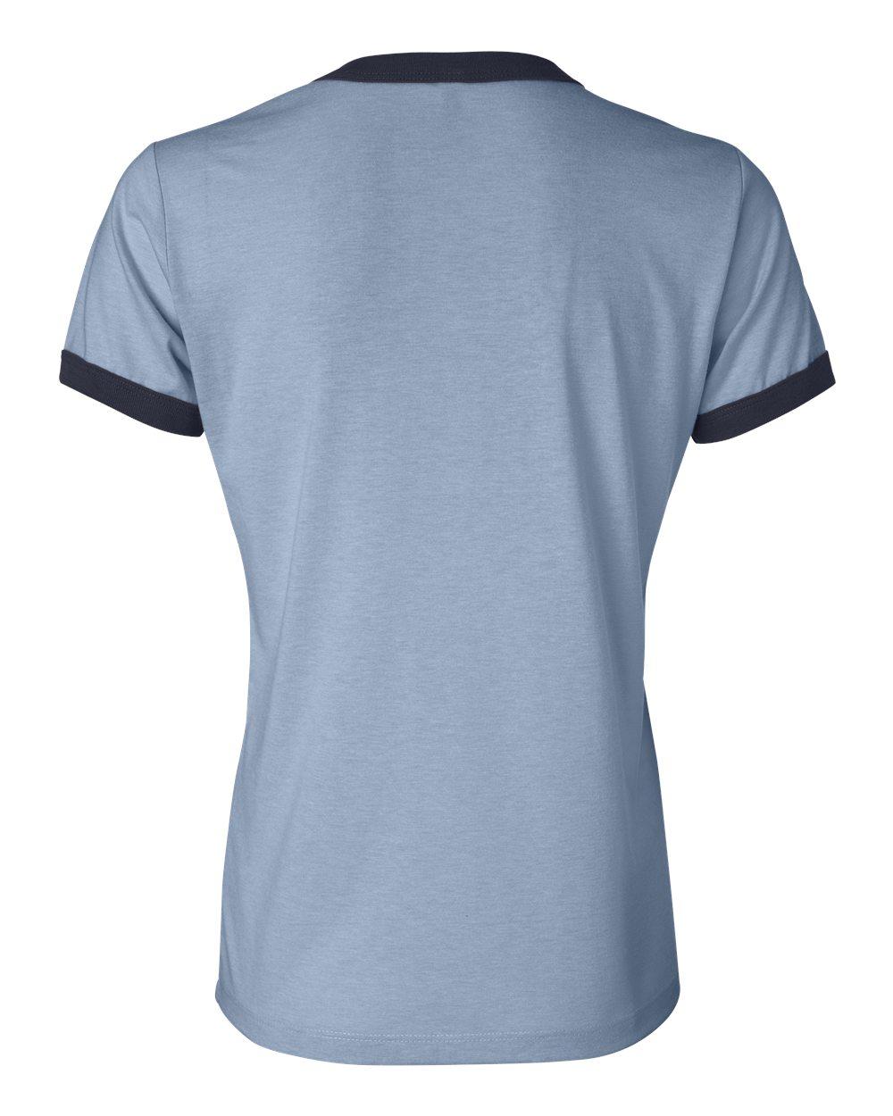 Bella-Canvas-Women-039-s-Jersey-Short-Sleeve-Ringer-T-Shirt-B6050-S-2XL thumbnail 8