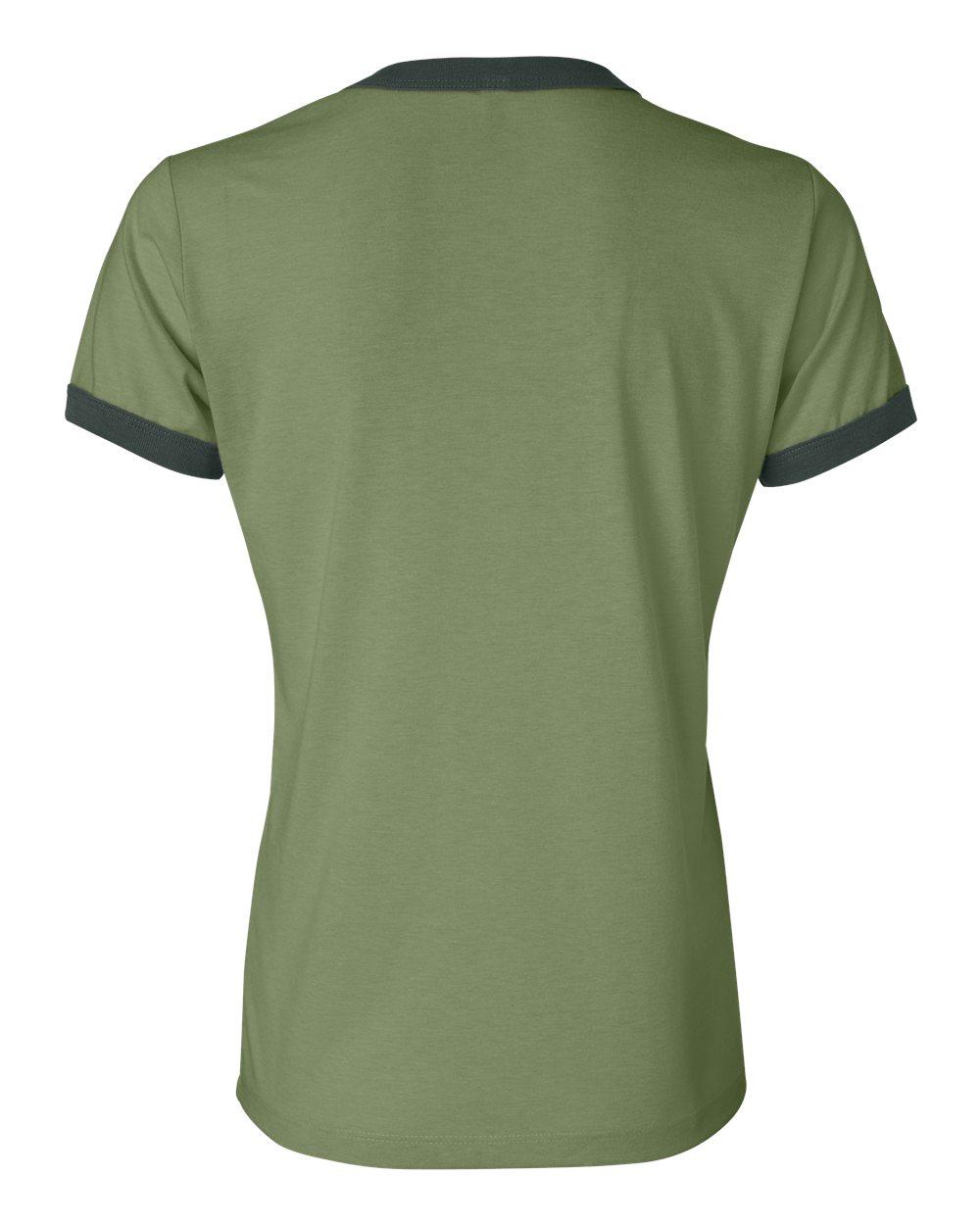 Bella-Canvas-Women-039-s-Jersey-Short-Sleeve-Ringer-T-Shirt-B6050-S-2XL thumbnail 4