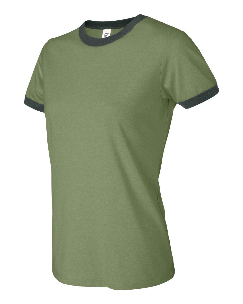 Bella-Canvas-Women-039-s-Jersey-Short-Sleeve-Ringer-T-Shirt-B6050-S-2XL thumbnail 3