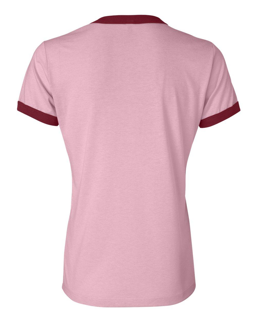 Bella-Canvas-Women-039-s-Jersey-Short-Sleeve-Ringer-T-Shirt-B6050-S-2XL thumbnail 11