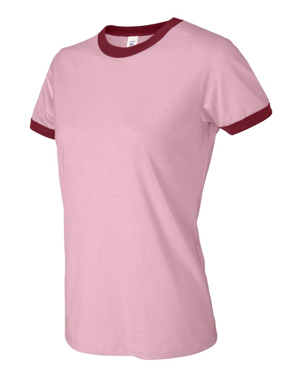 Bella-Canvas-Women-039-s-Jersey-Short-Sleeve-Ringer-T-Shirt-B6050-S-2XL thumbnail 10