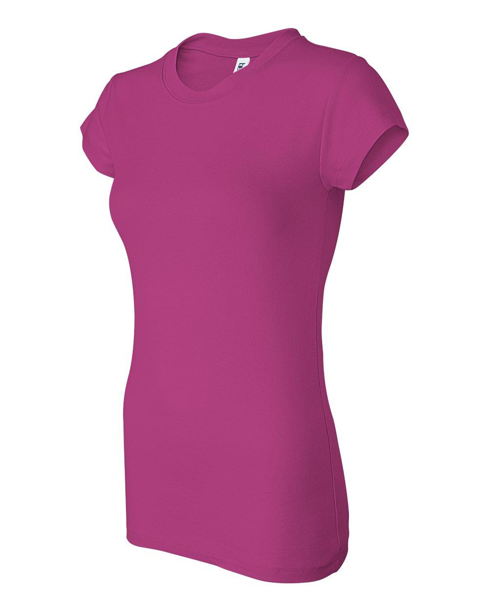 Bella-Canvas-Women-039-s-Sheer-Mini-Rib-Short-Sleeve-T-Shirt-8701-S-2XL thumbnail 15