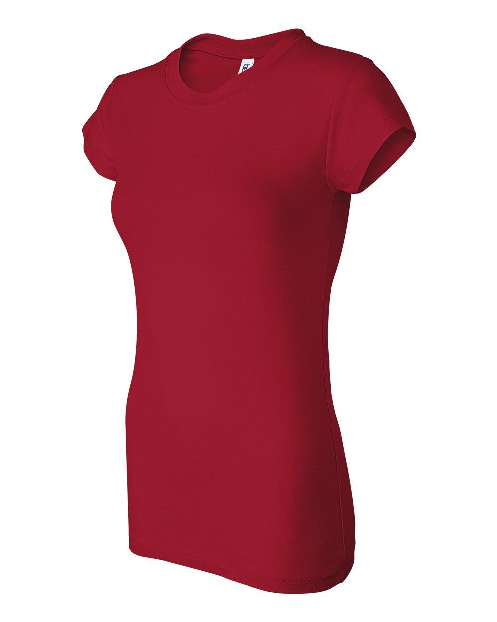 Bella-Canvas-Women-039-s-Sheer-Mini-Rib-Short-Sleeve-T-Shirt-8701-S-2XL thumbnail 9