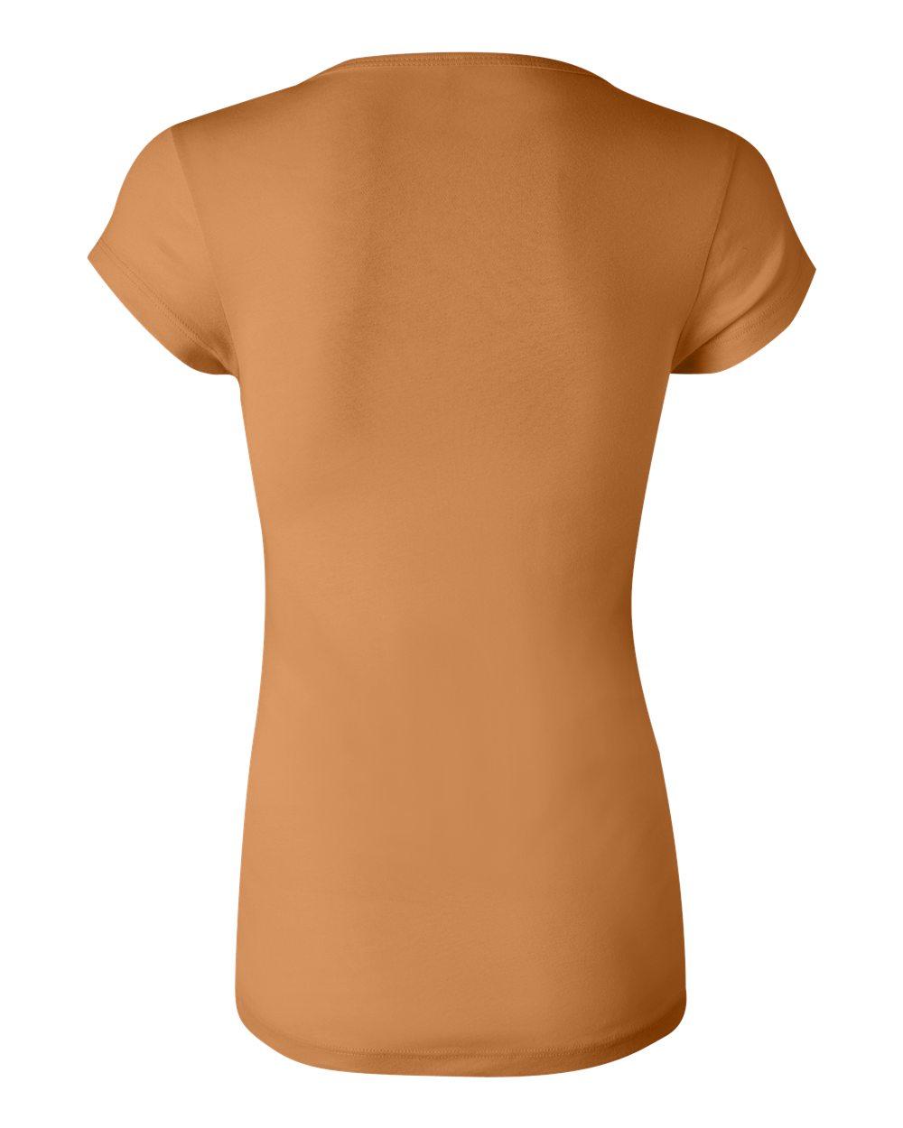 Bella-Canvas-Women-039-s-Sheer-Mini-Rib-Short-Sleeve-Scoop-Neck-T-Shirt-B8703-S-2XL thumbnail 25