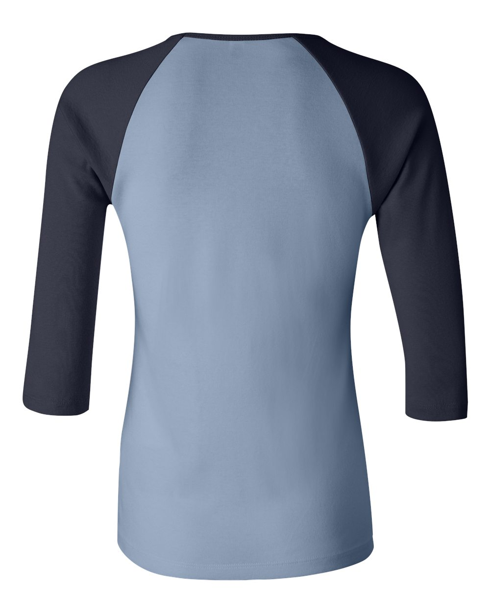 Bella-Canvas-Womens-Stretch-Rib-3-4-Sleeve-Contrast-Raglan-T-Shirt-B2000 thumbnail 5