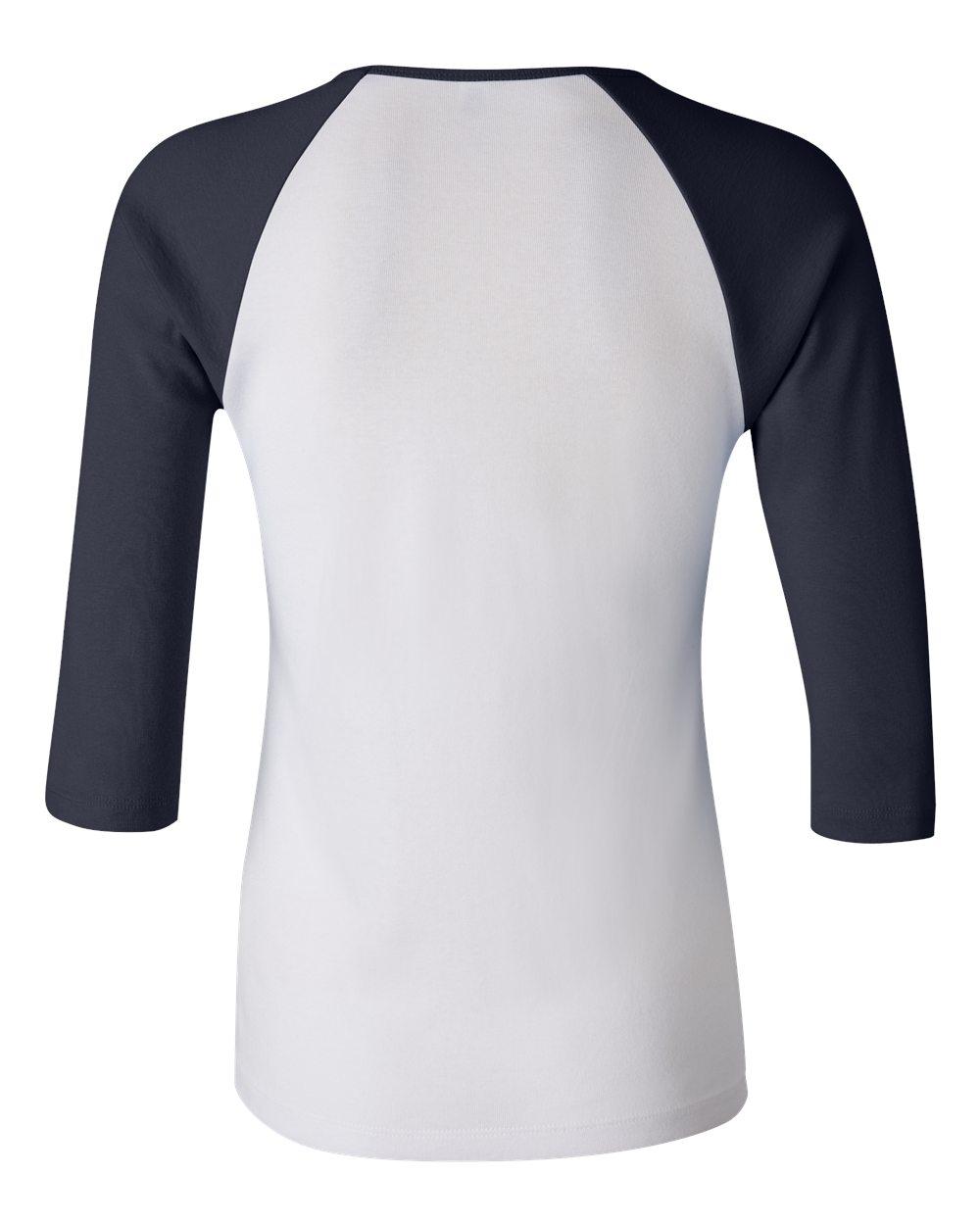 Bella-Canvas-Womens-Stretch-Rib-3-4-Sleeve-Contrast-Raglan-T-Shirt-B2000 thumbnail 20