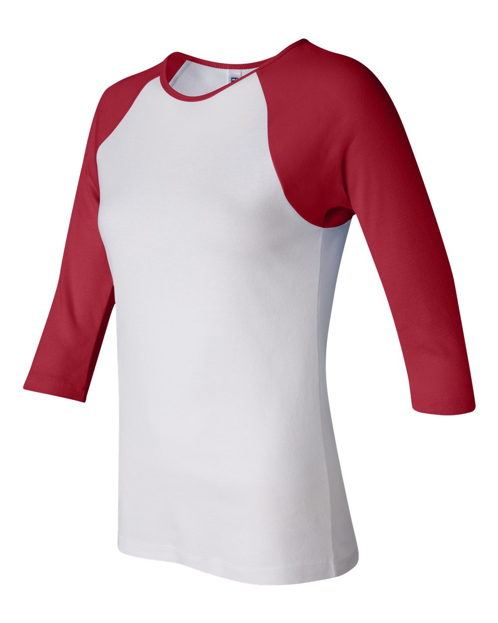 Bella-Canvas-Womens-Stretch-Rib-3-4-Sleeve-Contrast-Raglan-T-Shirt-B2000 thumbnail 25