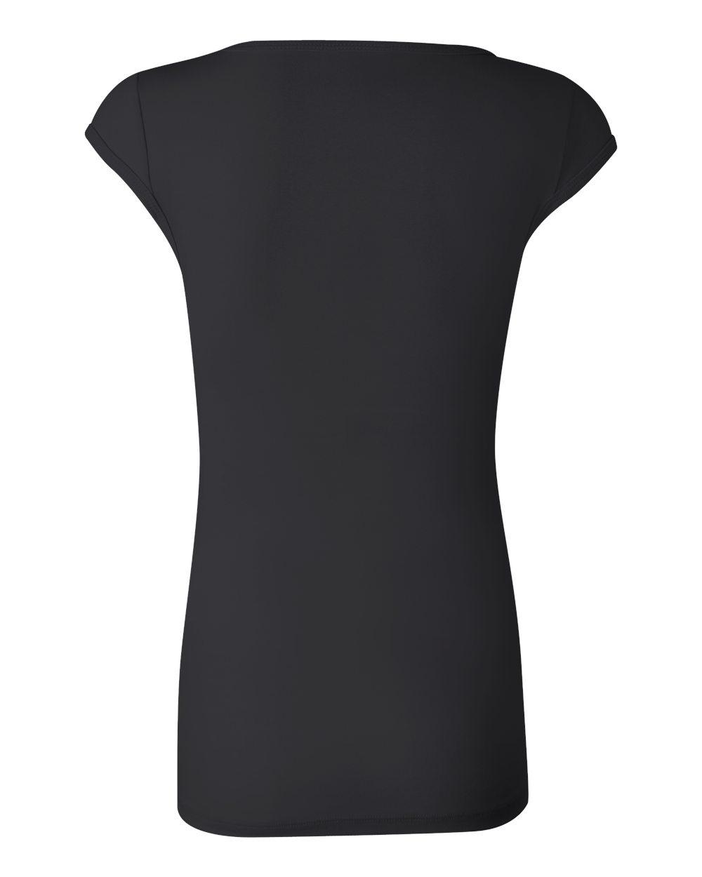 Bella-Canvas-Women-039-s-Sheer-Mini-Rib-Cap-Sleeve-Deep-V-Neck-T-Shirt-B8705-S-2XL thumbnail 17
